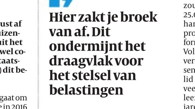 De Volkskrant 28 januari 2018
